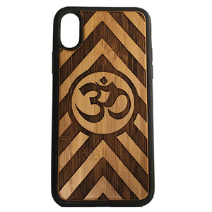 OM Chevron Stripes Laser-Engraved Case for iPhone X, XS, XS Max, XR