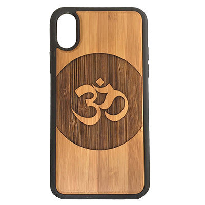 OM Circle Sanskrit Laser-Engraved Case for iPhone X, XS, XS Max, XR