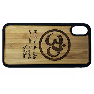 Om Buddha Quote Laser-Engraved Case for iPhone X, XS, XS Max, XR