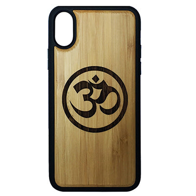 Om Symbol Laser-Engraved Case for iPhone X, XS, XS Max, XR
