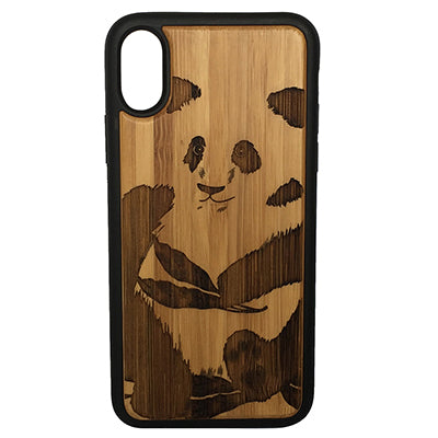Panda Laser-Engraved Case for iPhone X, XS, XS Max, XR