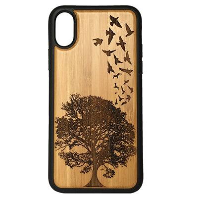 Birds in Flight Laser-Engraved Case for iPhone X, XS, XS Max, XR