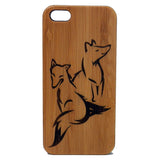 Fox Laser-Engraved Case for iPhone 8, 8 Plus, 7, 7 Plus, 6, 6S, 6 Plus, 6S Plus, SE, 5, 5S