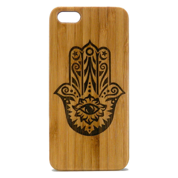 Hamsa Laser-Engraved Case for iPhone 8, 8 Plus, 7,  7 Plus, 6, 6S, 6 Plus, 6S Plus, SE, 5, 5S