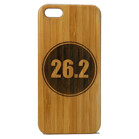 Marathon Runner iPhone Case | 6, 6S, 6 Plus, 6S Plus, SE, 5, 5S, 5C. Bamboo Wood Cover. 26.2 Miles Running Run Athlete. By iMakeTheCase