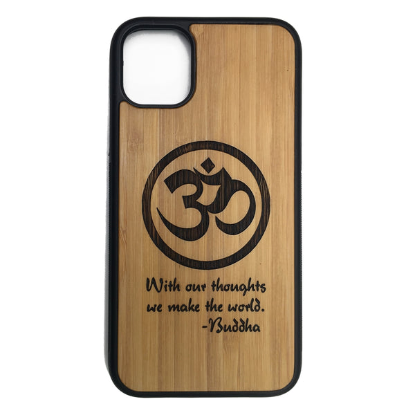 Om Buddha Quote Case