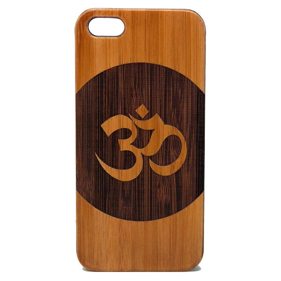 Om Circle Laser-Engraved Case for iPhone 8, 8 Plus, 7, 7 Plus, 6, 6S, 6 Plus, 6S Plus, SE, 5, 5S