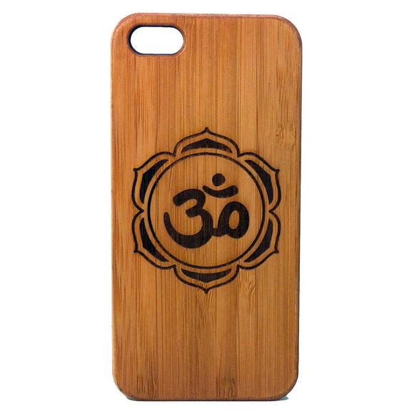OM Lotus Flower Laser-Engraved Case for iPhone 8, 8 Plus, 7, 7 Plus, 6, 6S, 6 Plus, SE, 5, 5S