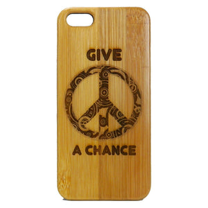 Give Peace A Chance Laser-Engraved Case for iPhone 8, 8 Plus, 7,  7 Plus, 6, 6S, 6 Plus, SE, 5, 5S
