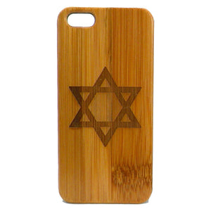 Star of David iPhone Case | 8, 8 Plus, 7, 7 Plus, 6, 6S, 6 Plus, 6S Plus, SE 5, 5S Bamboo Wood Cover