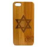 Star of David iPhone Case | 6, 6S, 6 Plus, 6S Plus, SE, 5, 5S, 5C. Bamboo Wood Cover. Jewish Hanukkah Israel Flag. By iMakeTheCase