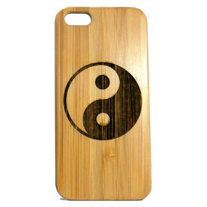 Yin Yang iPhone Case | 8, 8 Plus, 7, 7 Plus, 6, 6S, 6 Plus, 6S Plus, SE, 5, 5S Bamboo Wood Cover