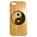 Yin Yang iPhone Case | 8, 8 Plus, 7, 7 Plus, 6, 6S, 6 Plus, 6S Plus, SE, 5, 5S, 5C. Bamboo Wood Cover. Chinese Taoism Symbol Balance Asian. By iMakeTheCase