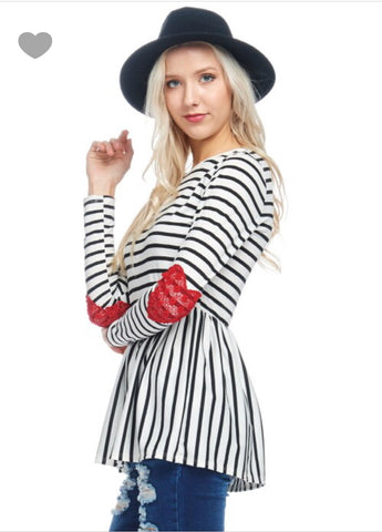 Hearts and Stripes - Ava Rae Boutique