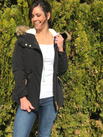 Ashlynn Anorak Jacket Black - Ava Rae Boutique
