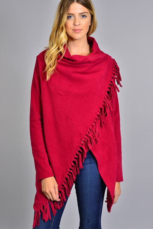 Merry Berry Fringe Wrap - Ava Rae Boutique