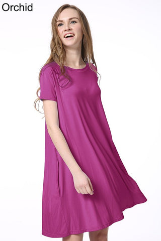 Piko Swing Dress Orchid - Ava Rae Boutique