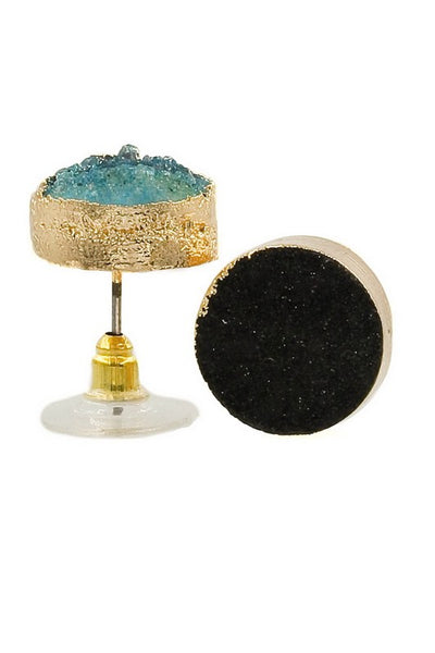 Druzy Stud Earrings - Ava Rae Boutique
