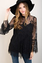 All About That Lace Blouse - Ava Rae Boutique