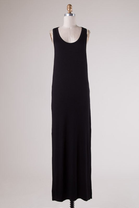 Harley Tank Dress Black - Ava Rae Boutique