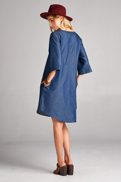 Denim Dress - Ava Rae Boutique