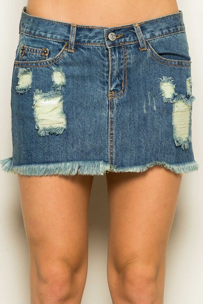 Southern Charm Denim Skirt - Ava Rae Boutique