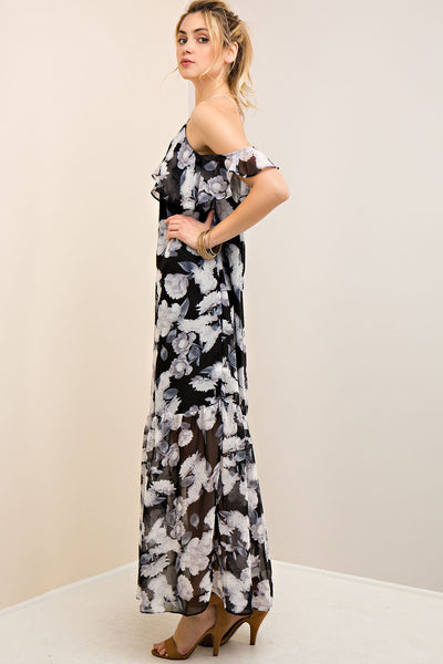 Whimsical Floral Maxi Dress - Ava Rae Boutique