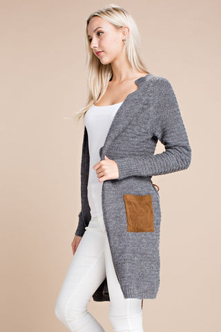 Grey Sweater Cardigan - Ava Rae Boutique