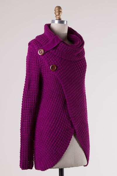 Cozy Up Sweater Magenta - Ava Rae Boutique
