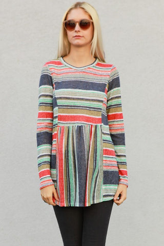 Sugar Crush Striped Sweater - Ava Rae Boutique