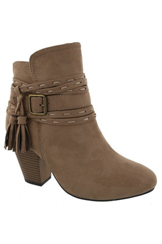 Strap and Buckle Bootie - Ava Rae Boutique