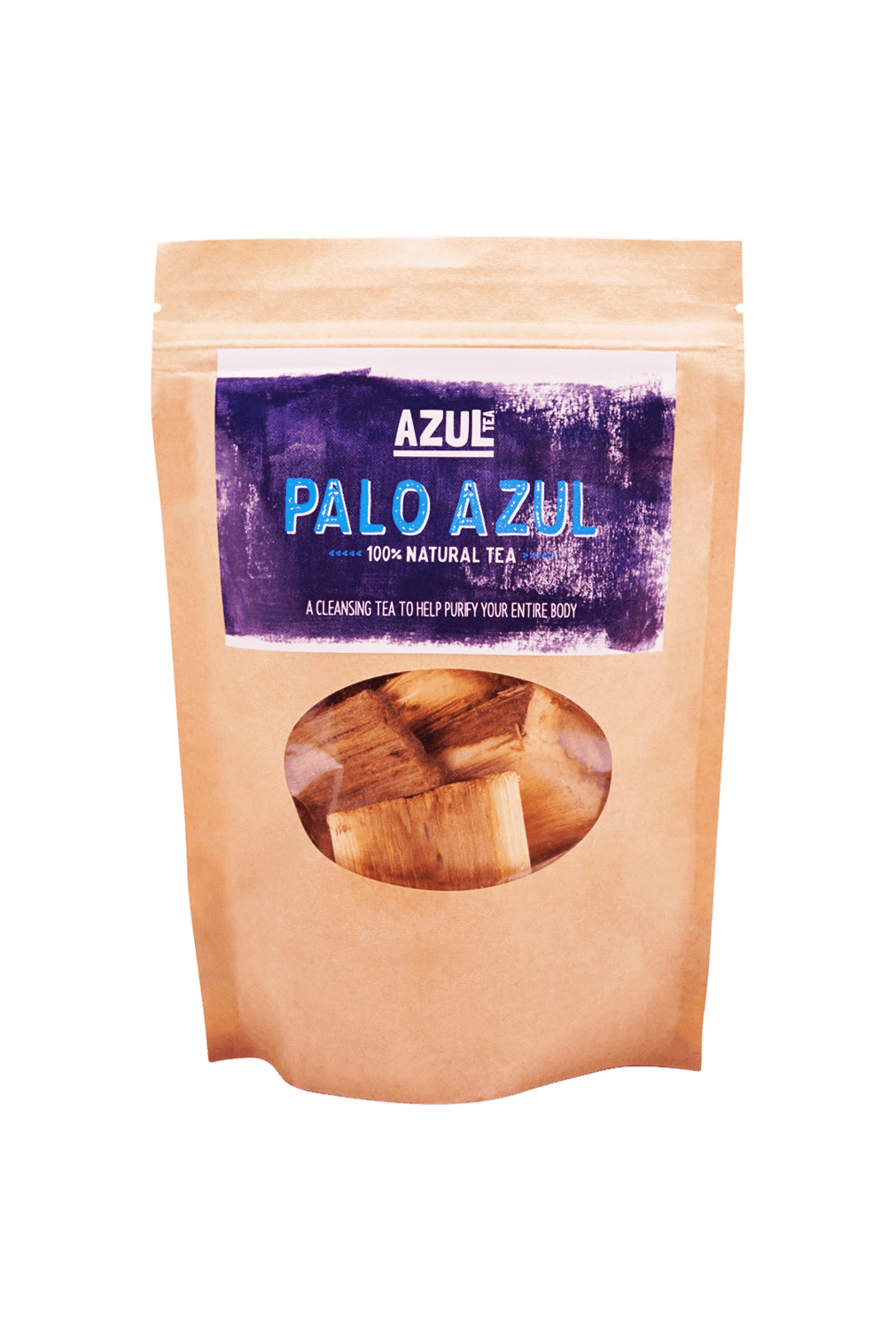 Front of Palo Azul packaging from Azul Tea