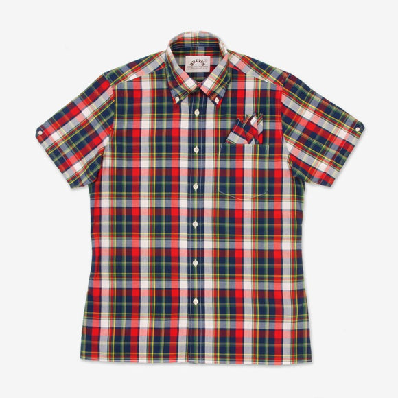 Brutus Red Madras Trimfit Shirt