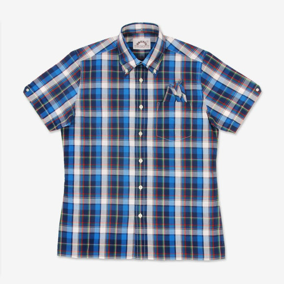 Brutus Trimfit Blue Madras Shirt