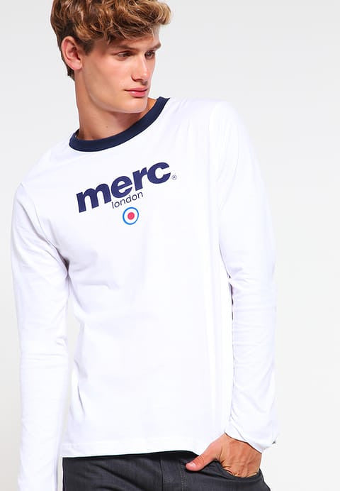 Merc 'Fight' long sleeved t shirt- white