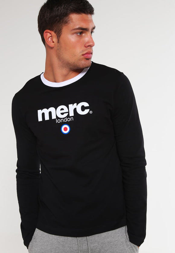 Merc 'Fight' long sleeved t shirt- black