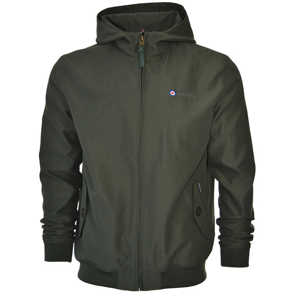 SALE! Lambretta khaki hooded Harrington - showerproof - HIGH QUALITY, SOFT TOUCH