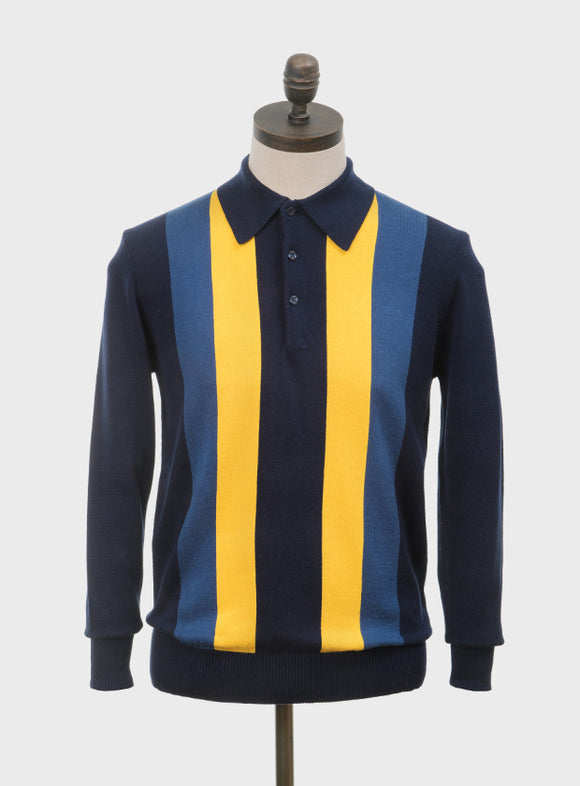 Art Gallery 'Ellis' long sleeved polo knit