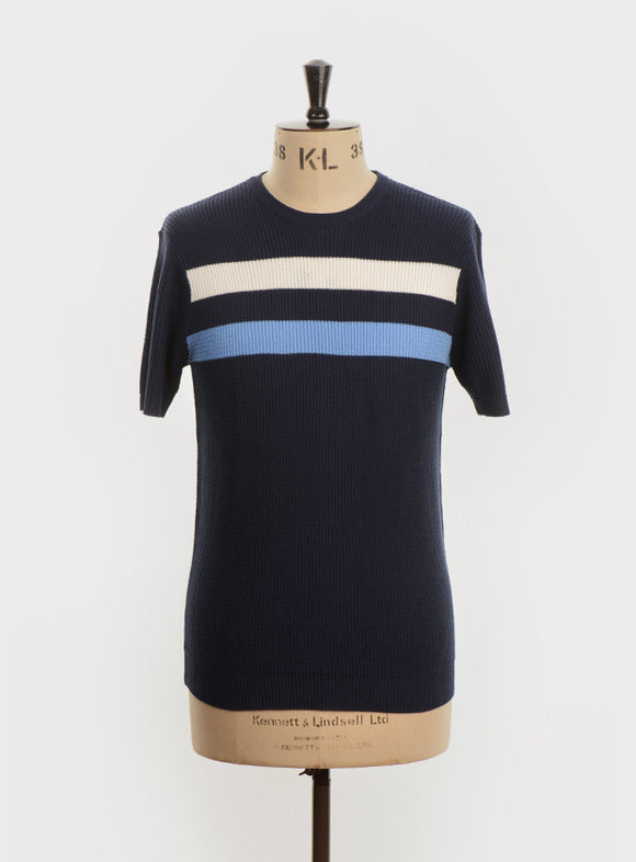 Art Gallery Goldhawk - navy with pale blue stripe