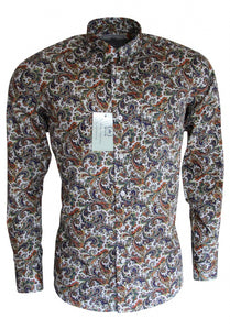 Relco brown paisley shirt - platinum collection