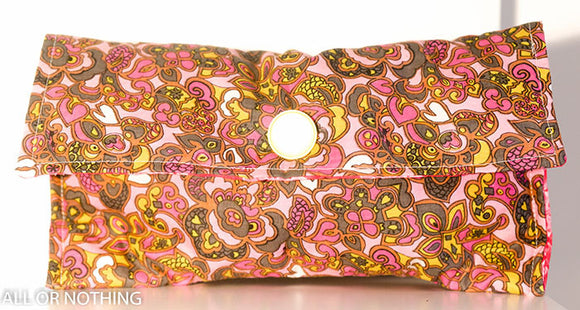 Pink paisley clutch bag New B33/3