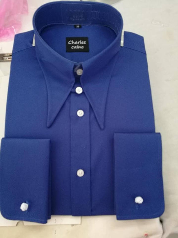 Charles Caine Pentland Electric Blue Spear Point Collar