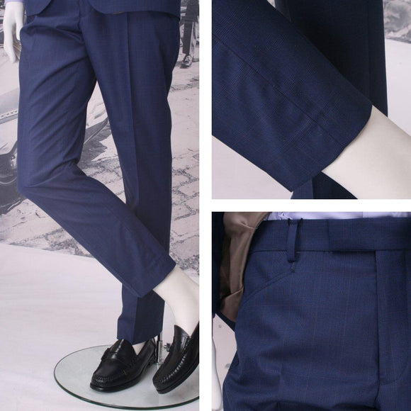 Get Up Blue Prince of Wales Trousers