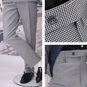 Get Up Frogmouth sta prest trousers dogtooth