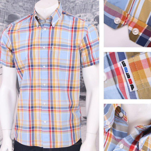 SALE Get Up - multi coloured check shirt