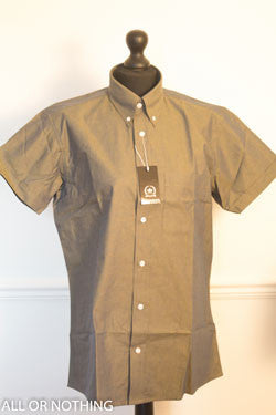 SALE Relco Gold and Green Tonic short sleeved shirt - MS12/14