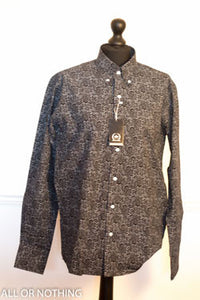 Relco Long sleeved shirt with Black Paisley design - MS6/14