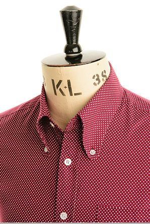 Art Gallery Polka dot shirt - wine