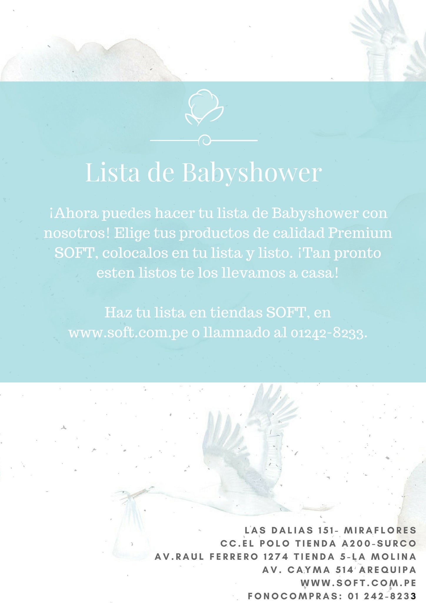 Listas De Baby Shower Soft Peru