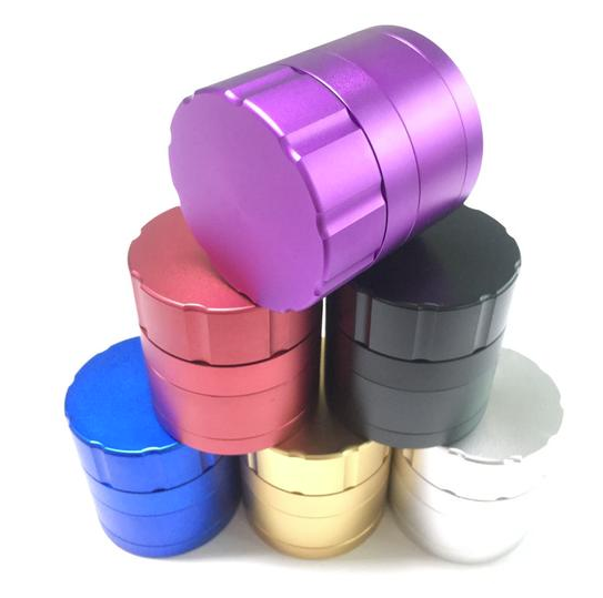 Cool 63mm 4 Layer Aluminum Alloy Grinder Available in 6 Colors